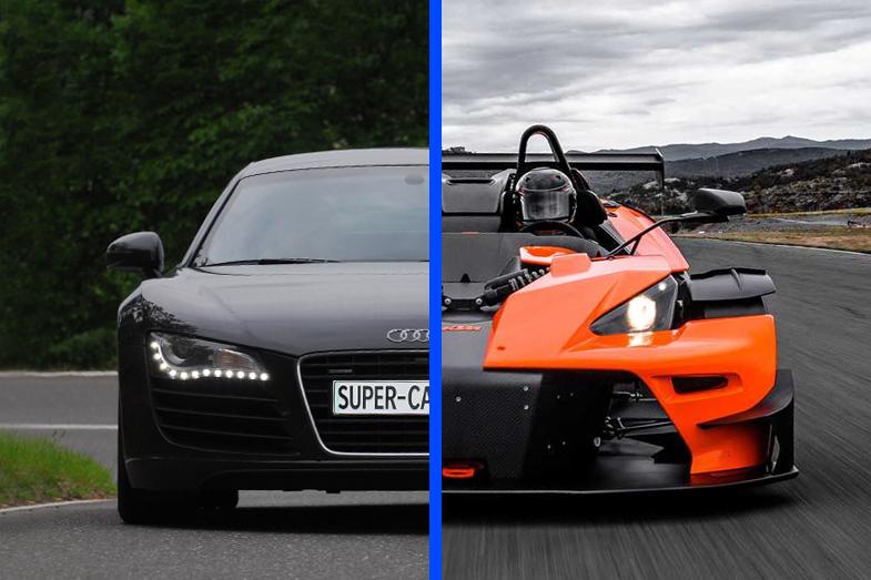 Audi R8 vs KTM X-BOW