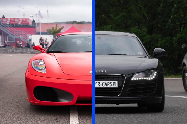 Ferrari F430 vs Audi R8