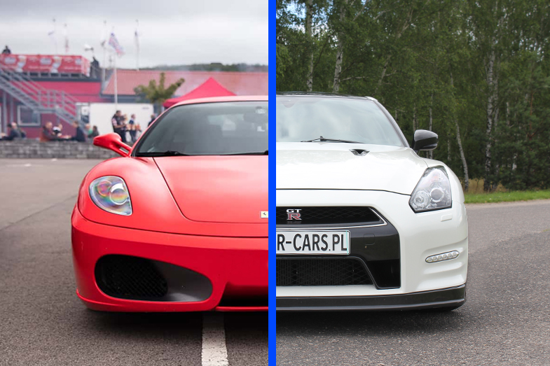 Ferrari F430 vs Nissan GT-R