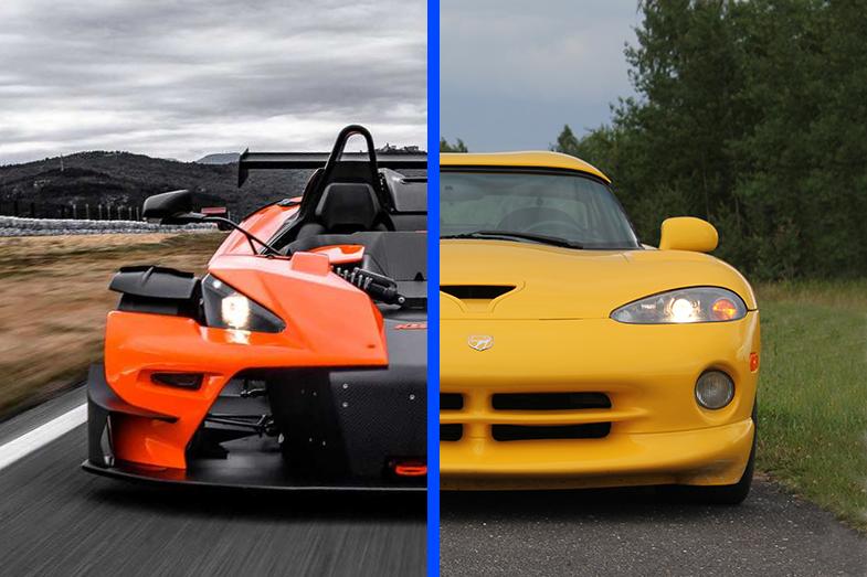 KTM X-BOW vs Dodge Viper